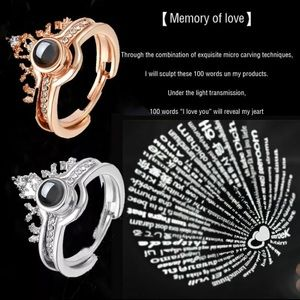 Silver projection of love ring set NIP